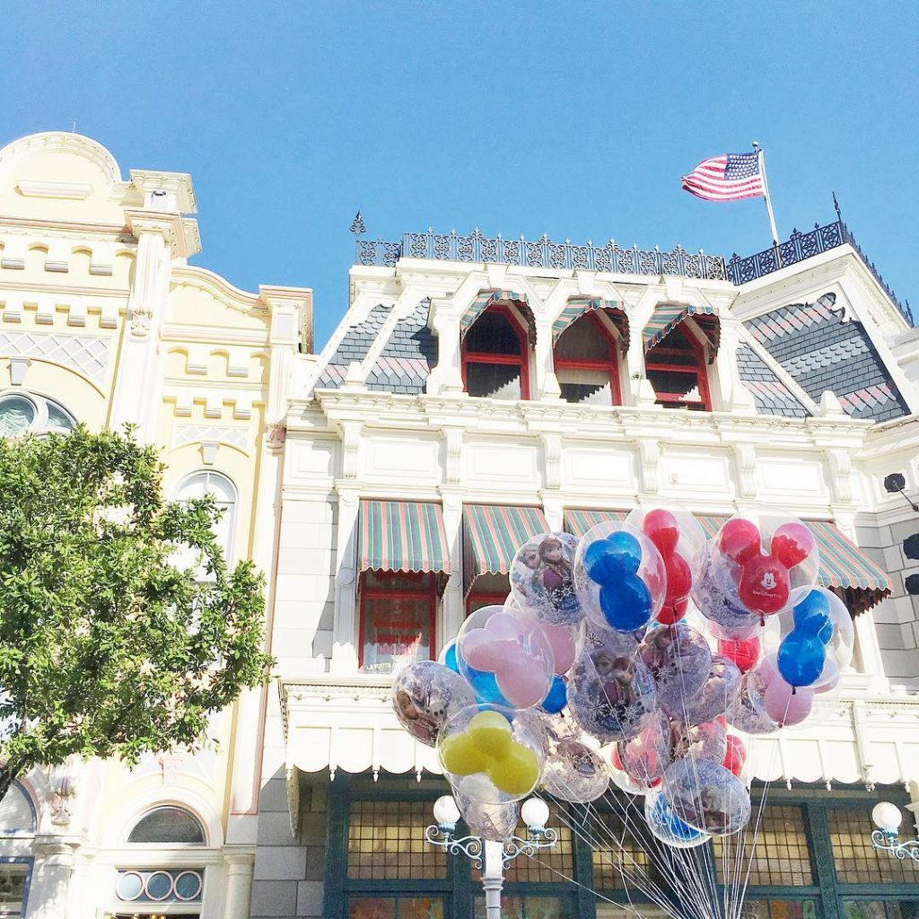 Main Street U.S.A. and balloons